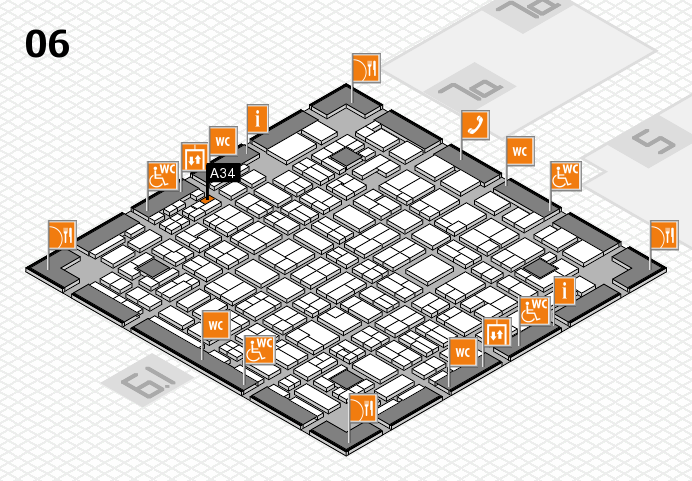 MEDICA 2016 hall map (Hall 6): stand A34
