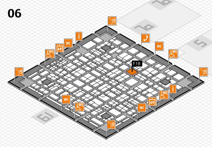 MEDICA 2016 hall map (Hall 6): stand F18