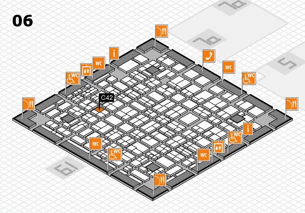 MEDICA 2016 hall map (Hall 6): stand C42