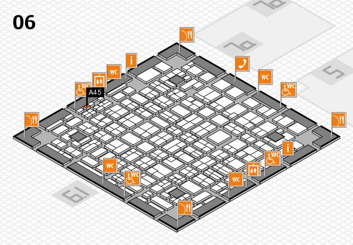 MEDICA 2016 hall map (Hall 6): stand A45
