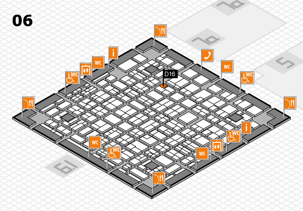 MEDICA 2016 hall map (Hall 6): stand D16