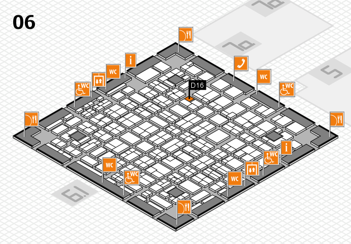 MEDICA 2016 hall map (Hall 6): stand D16
