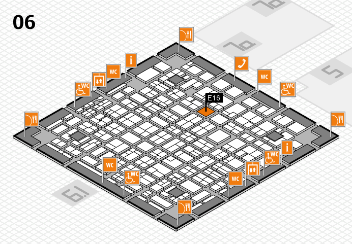 MEDICA 2016 hall map (Hall 6): stand E16