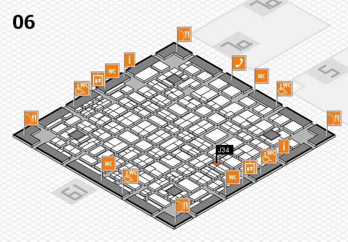 MEDICA 2016 hall map (Hall 6): stand J34