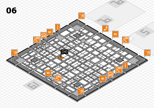 MEDICA 2016 hall map (Hall 6): stand D40