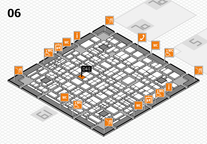 MEDICA 2016 hall map (Hall 6): stand D40