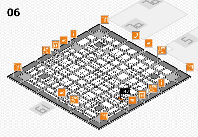 MEDICA 2016 hall map (Hall 6): stand K43