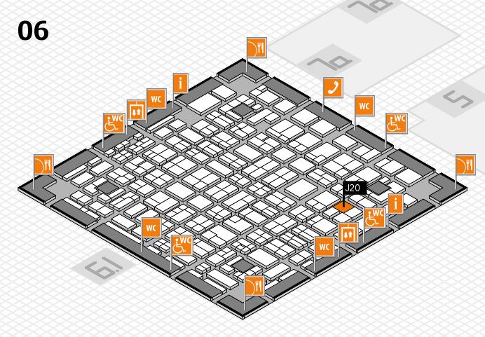 MEDICA 2016 hall map (Hall 6): stand J20