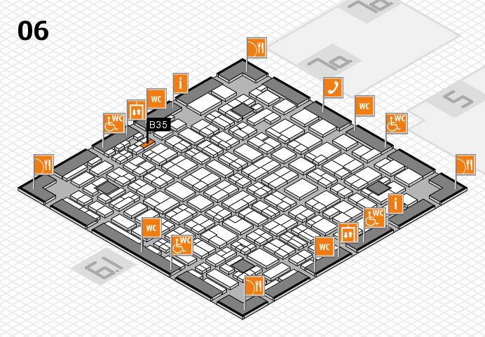 MEDICA 2016 hall map (Hall 6): stand B35