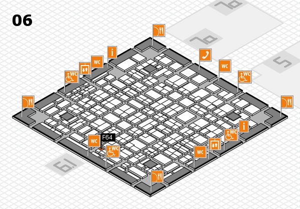 MEDICA 2016 hall map (Hall 6): stand F64