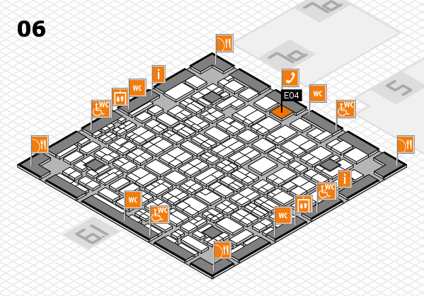 MEDICA 2016 hall map (Hall 6): stand E04