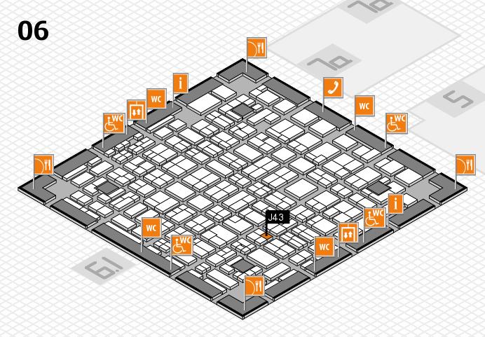 MEDICA 2016 hall map (Hall 6): stand J43