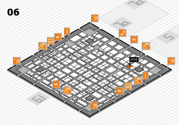 MEDICA 2016 hall map (Hall 6): stand H14