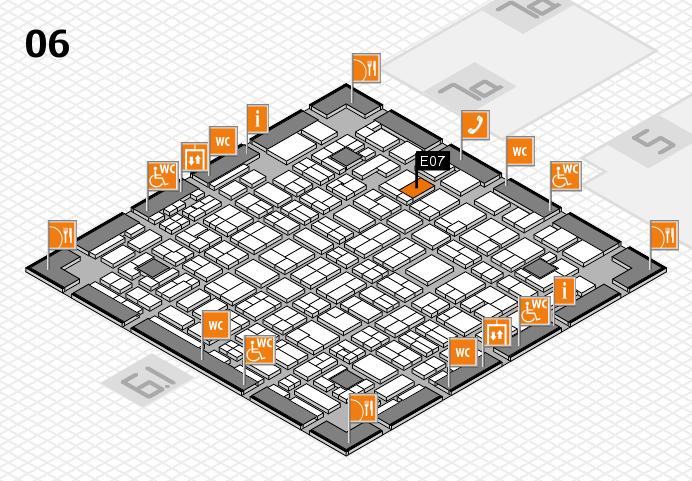 MEDICA 2016 hall map (Hall 6): stand E07