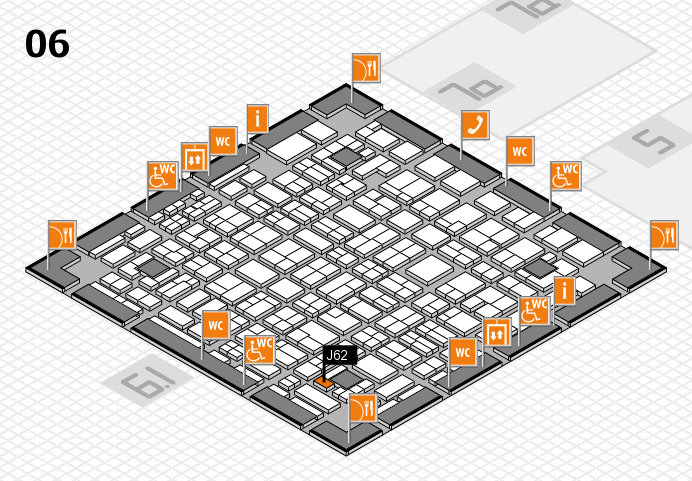 MEDICA 2016 hall map (Hall 6): stand J62