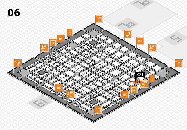 MEDICA 2016 hall map (Hall 6): stand K21