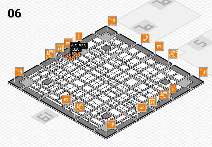 MEDICA 2016 hall map (Hall 6): stand A23, stand B28
