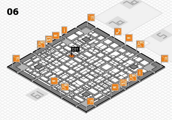 MEDICA 2016 hall map (Hall 6): stand D31