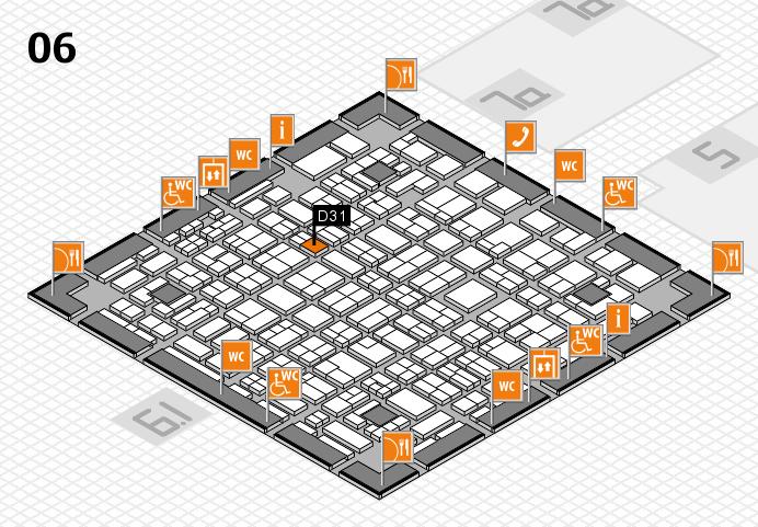 MEDICA 2016 hall map (Hall 6): stand D31