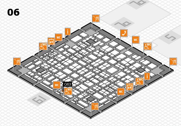 MEDICA 2016 hall map (Hall 6): stand G63