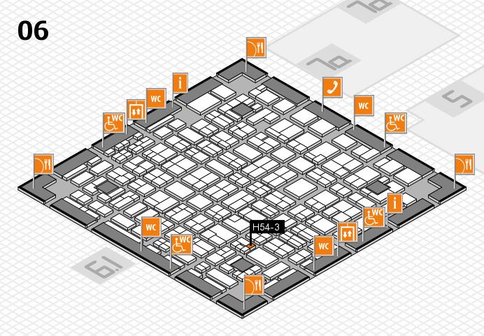 MEDICA 2016 hall map (Hall 6): stand H54-3