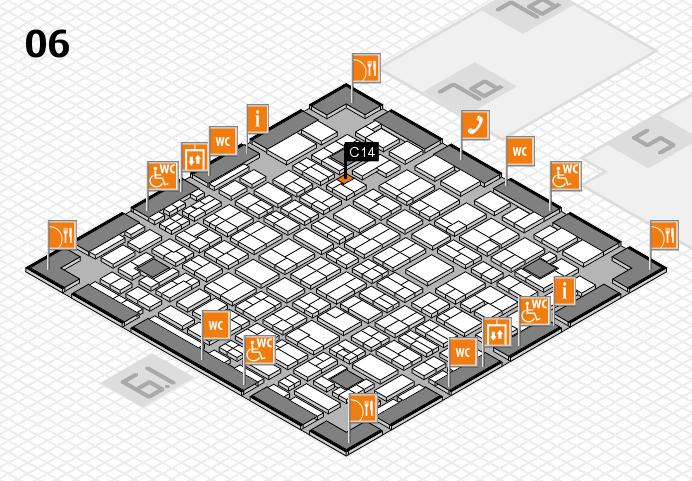 MEDICA 2016 hall map (Hall 6): stand C14