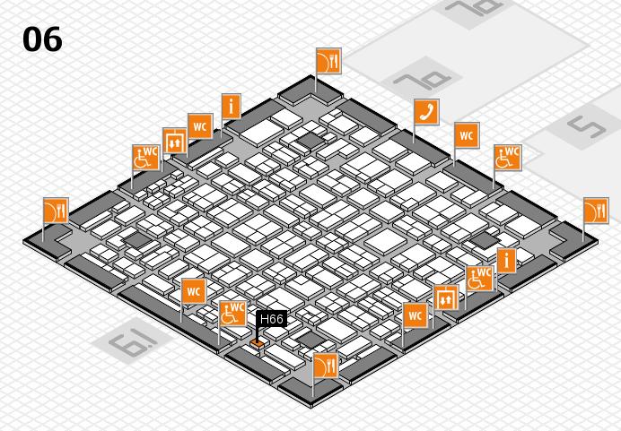 MEDICA 2016 hall map (Hall 6): stand H66