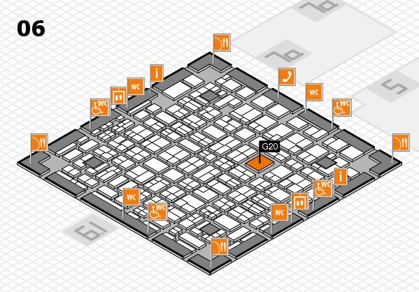 MEDICA 2016 hall map (Hall 6): stand G20