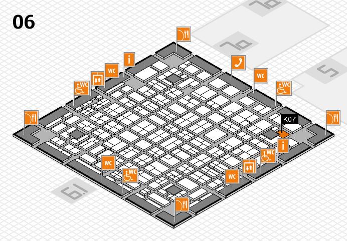 MEDICA 2016 hall map (Hall 6): stand K07