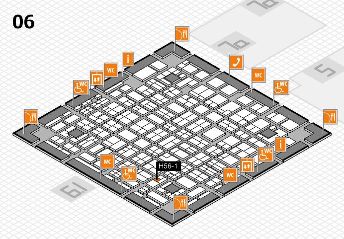 MEDICA 2016 hall map (Hall 6): stand H56-1