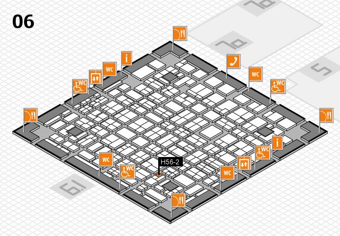 MEDICA 2016 hall map (Hall 6): stand H56-2