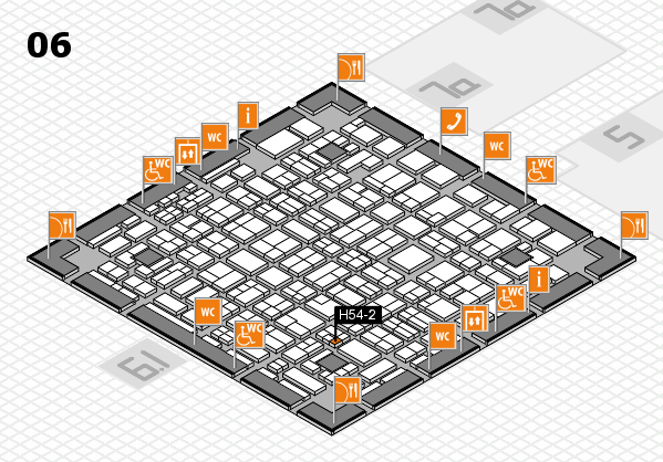 MEDICA 2016 hall map (Hall 6): stand H54-2
