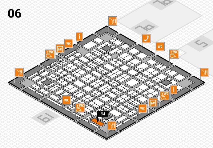 MEDICA 2016 hall map (Hall 6): stand J64