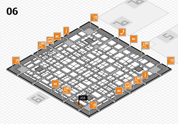 MEDICA 2016 hall map (Hall 6): stand J68