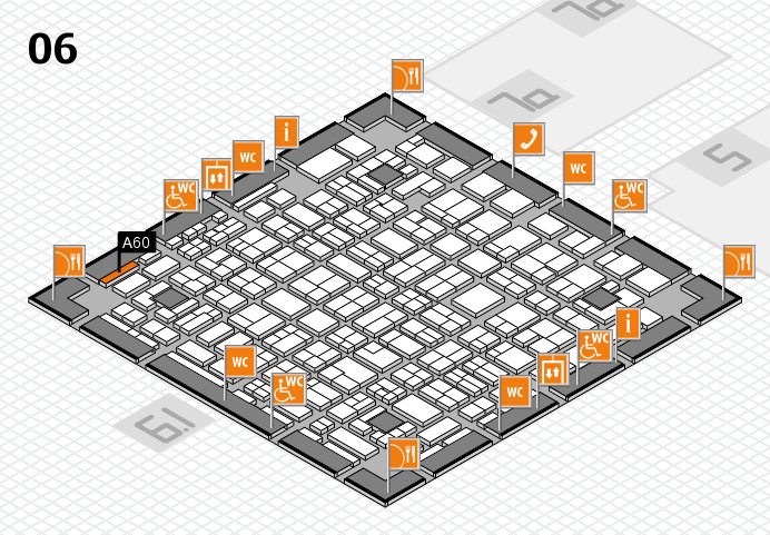 MEDICA 2016 hall map (Hall 6): stand A60