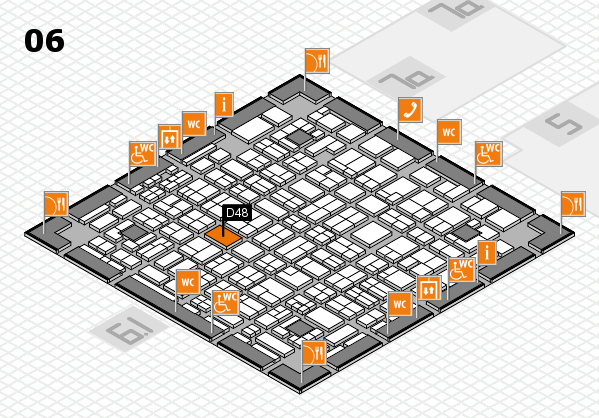 MEDICA 2016 hall map (Hall 6): stand D48