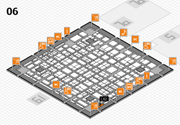MEDICA 2016 hall map (Hall 6): stand L62