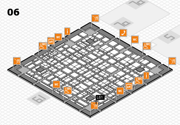 MEDICA 2016 hall map (Hall 6): stand L61