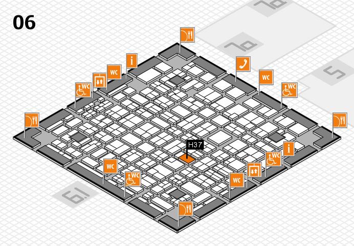 MEDICA 2016 hall map (Hall 6): stand H37