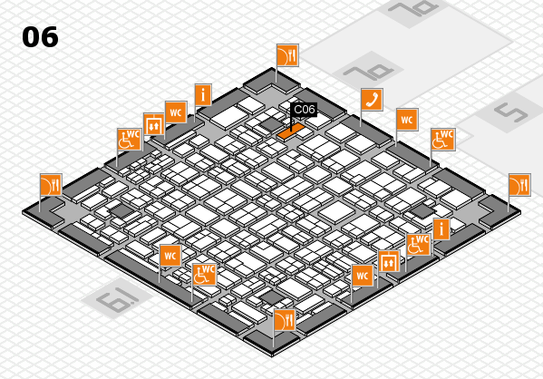 MEDICA 2016 hall map (Hall 6): stand C06