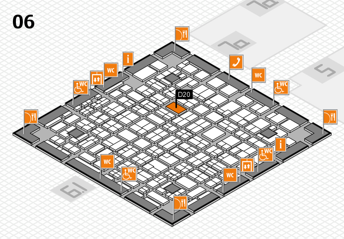 MEDICA 2016 hall map (Hall 6): stand D20