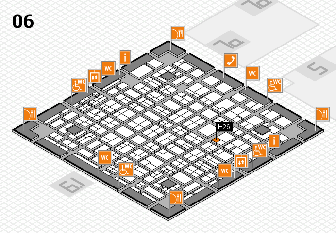 MEDICA 2016 hall map (Hall 6): stand H26