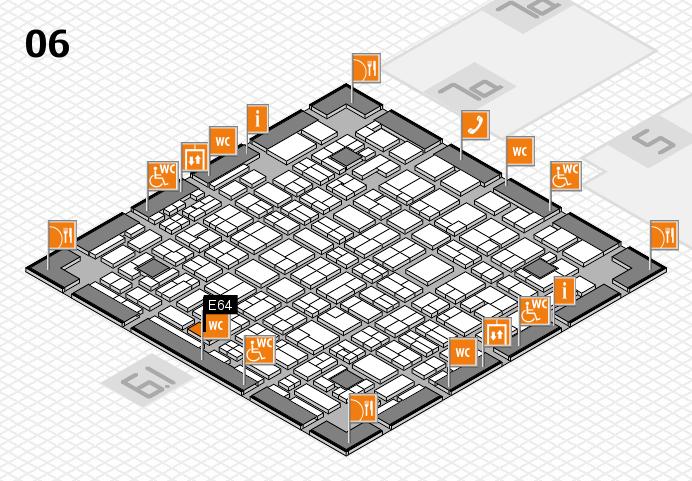 MEDICA 2016 hall map (Hall 6): stand E64