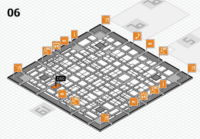 MEDICA 2016 hall map (Hall 6): stand D60