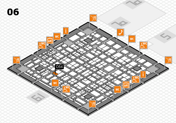 MEDICA 2016 hall map (Hall 6): stand D54