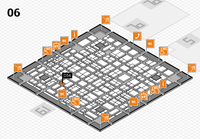 MEDICA 2016 hall map (Hall 6): stand D54