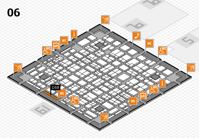 MEDICA 2016 hall map (Hall 6): stand D68
