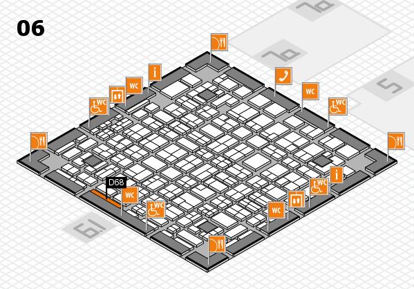 MEDICA 2016 hall map (Hall 6): stand D68