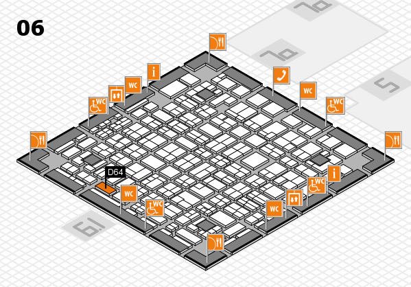 MEDICA 2016 hall map (Hall 6): stand D64