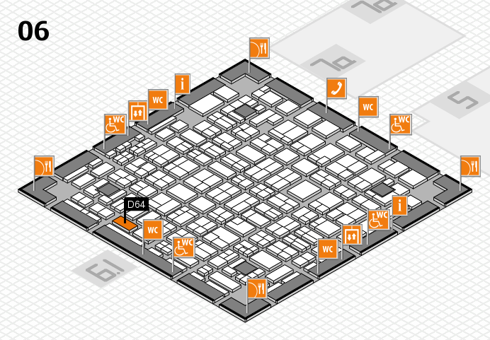 MEDICA 2016 hall map (Hall 6): stand D64